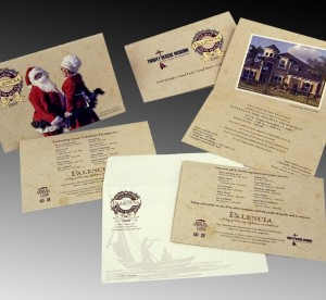 Invitations for Holiday Show House campaign