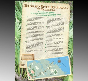 Graphic Design for first sign at Tolomato River Boardwalk