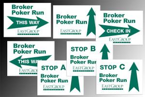 Directional Signage at Broker Poker Event