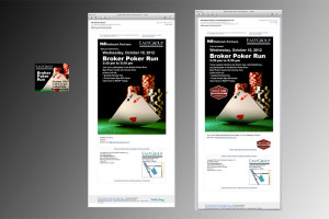 E-mail notices and ad for event