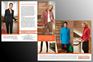 Brochure for Nina McLemore Casual Clothing Collection