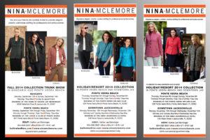 Newspaper Ads for Nina McLemore Clothing Line